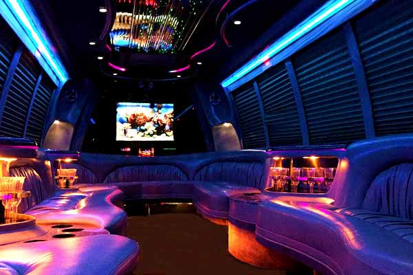 18 passenger party bus rental Candler McAfee