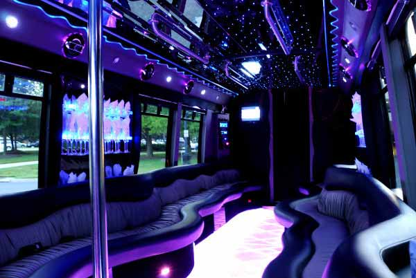 22 people party bus limo Candler McAfee