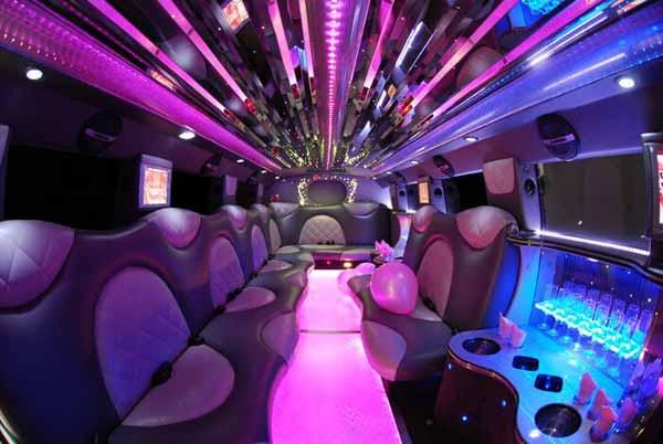 Cadillac Escalade limo interior Vinings