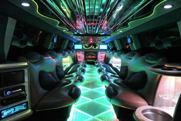 Hummer limo interior Candler McAfee